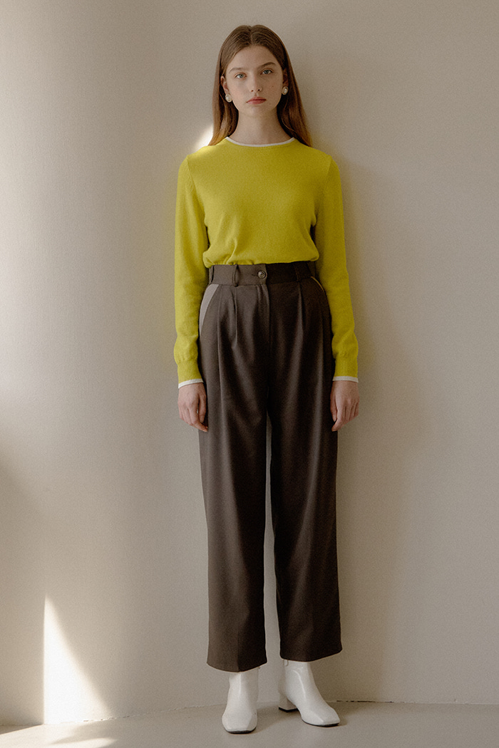 COLOR BLOCK PANTS_KHAKI