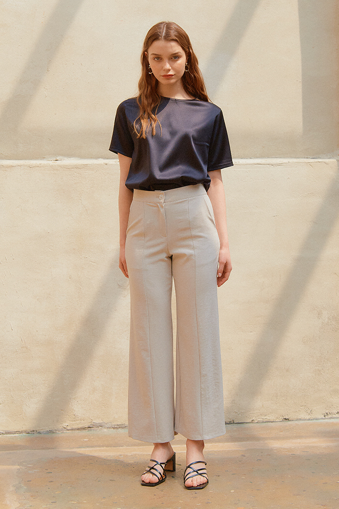 SEMI-WIDE PANTS_BEIGE