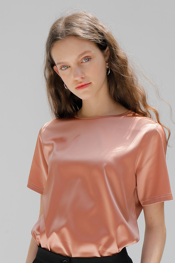 SILKY T-SHIRT_CORAL PINK