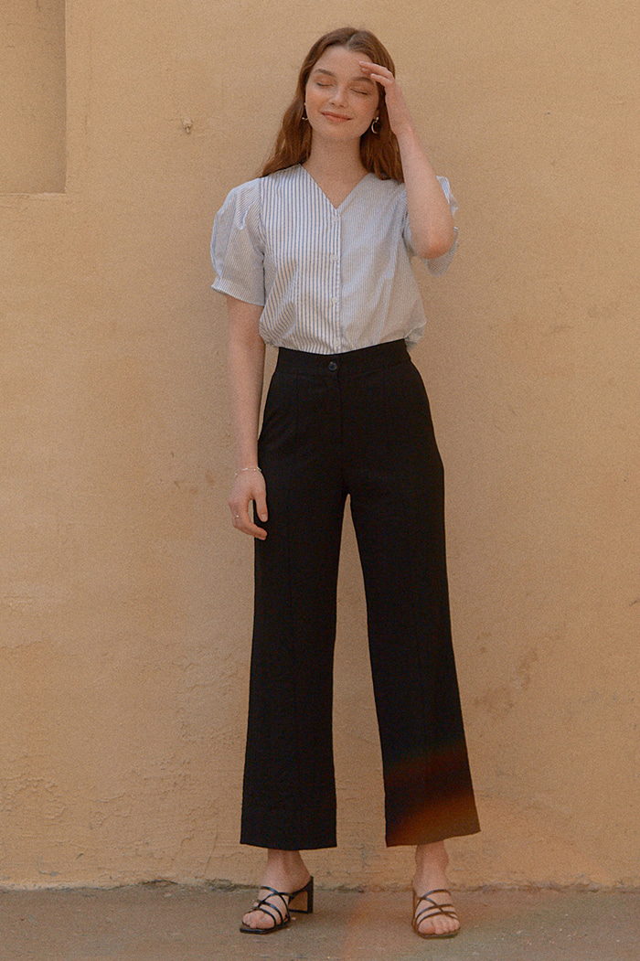 SEMI-WIDE PANTS_BLACK