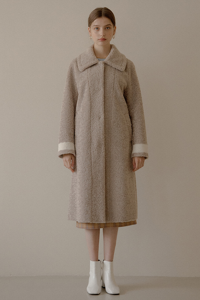 TEDDY LONG COAT_BEIGE