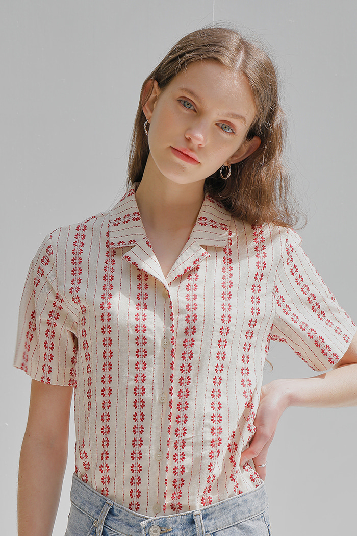 EMBROIDERY COTTON SHIRT_IVORY
